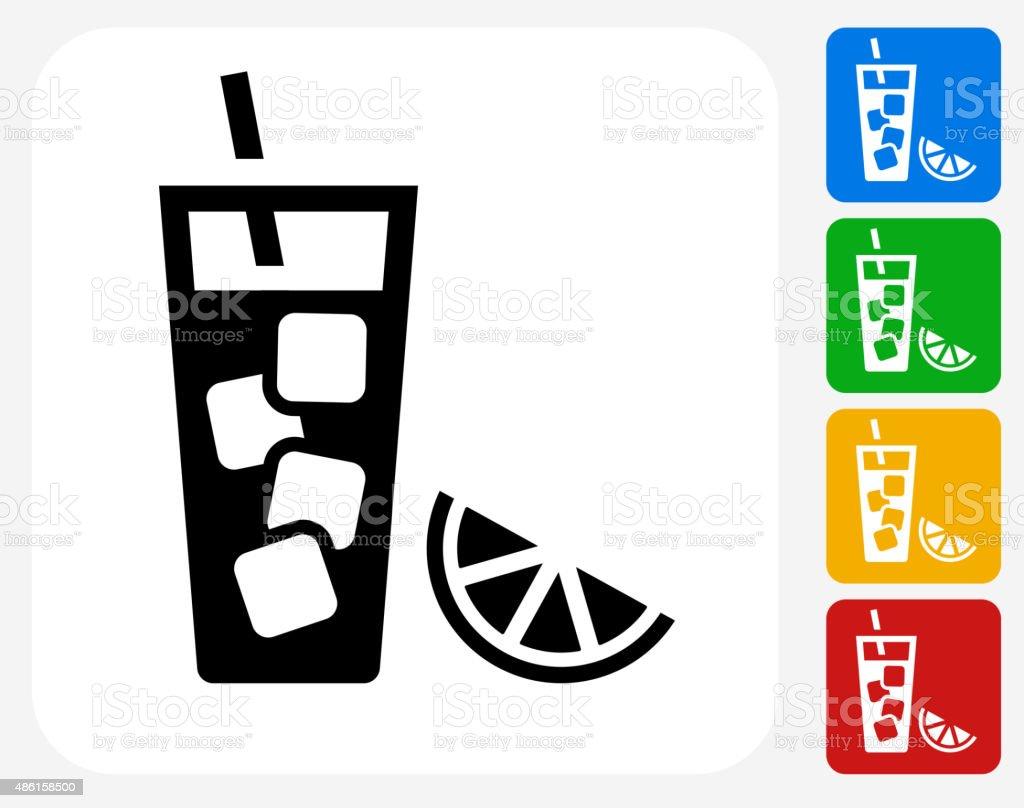 Succo di frutta icona piatto di Design grafico - illustrazione arte vettoriale