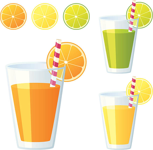 stockillustraties, clipart, cartoons en iconen met fruit juice - incl. jpeg - sapjes