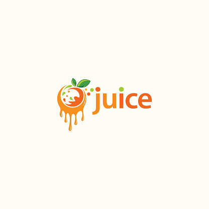 Fruit juice logo design. Fresh drink logo - Vector