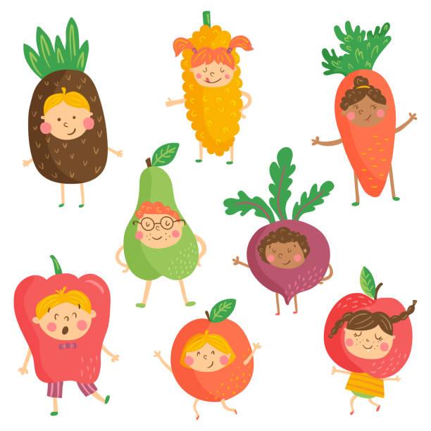 ilustrações de stock, clip art, desenhos animados e ícones de fruit kidies - super baby