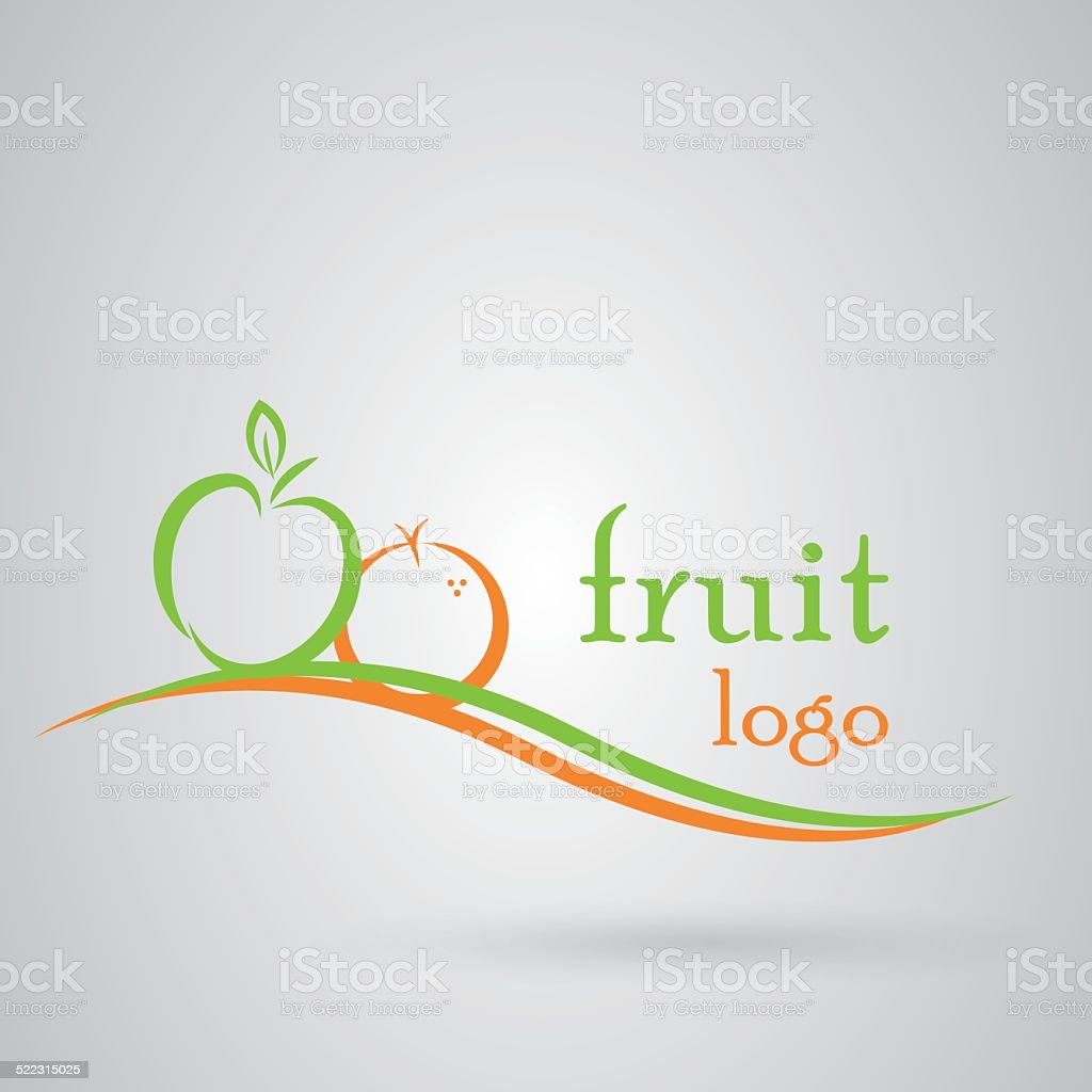 Fruit logo vector art illustration