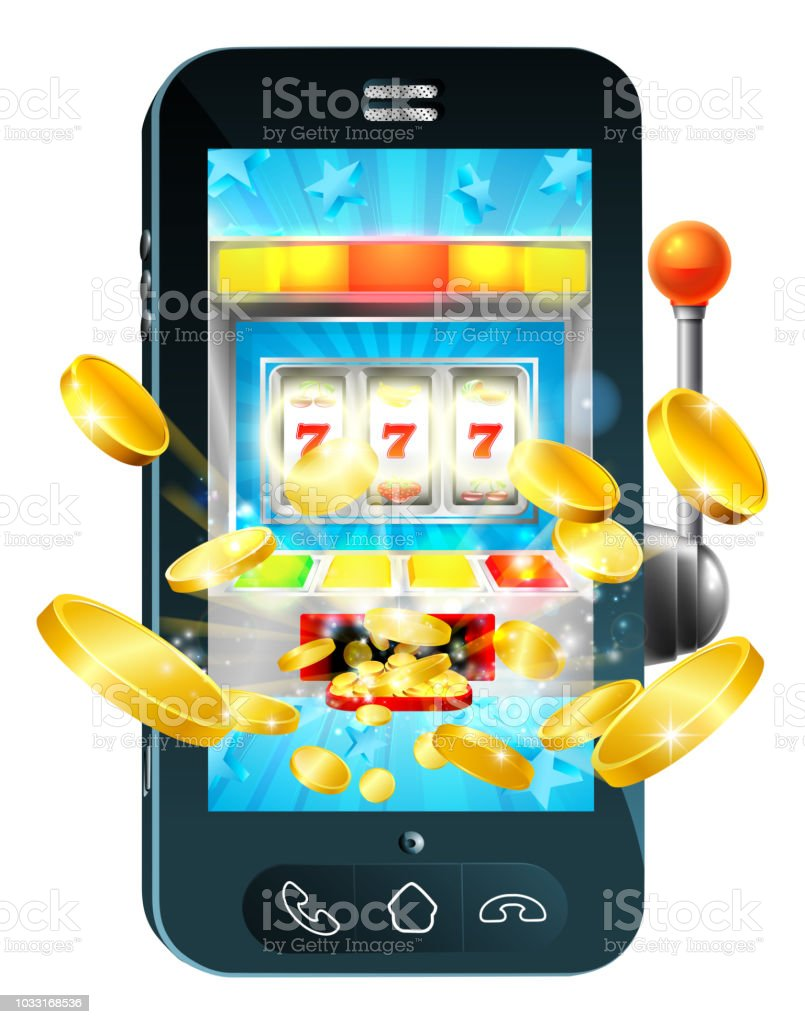 Fruit Machine Mobile Phone Concept vector art illustration