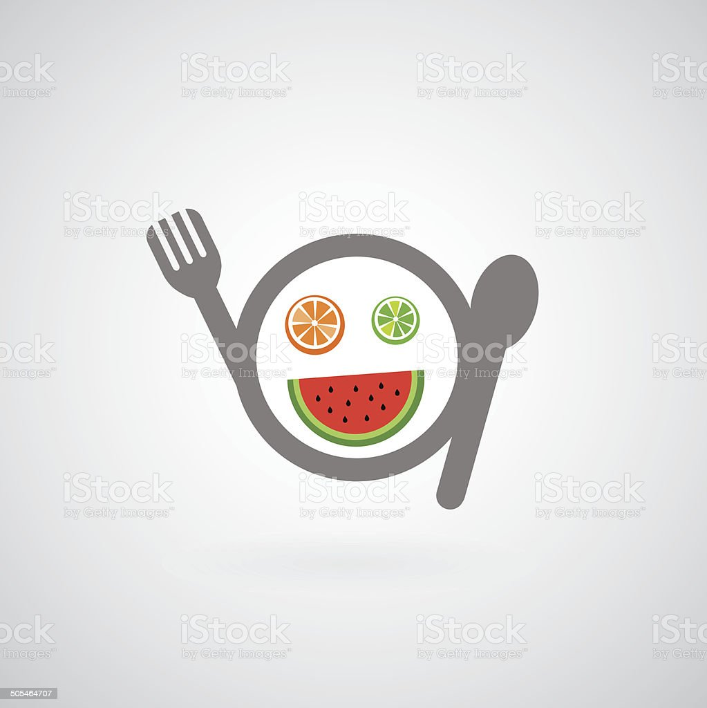fruit man symbol vector art illustration