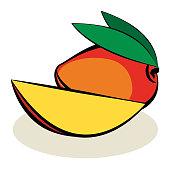 Fruit, Mango, vector illustration