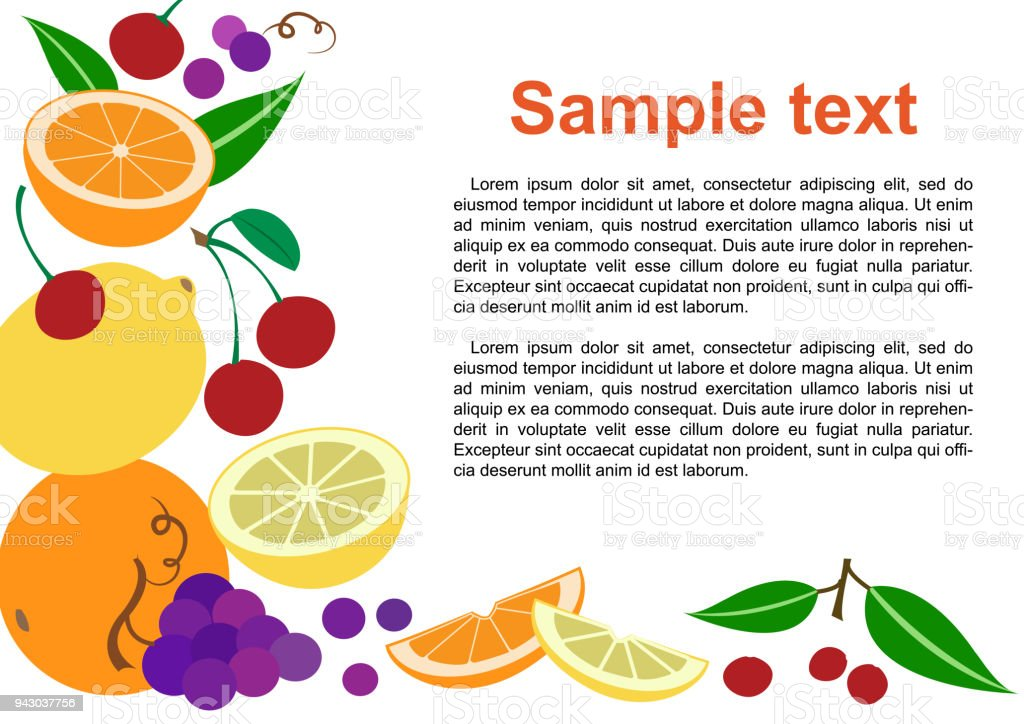 Fruit Mix Colorful Fruit Background Vector Illustration