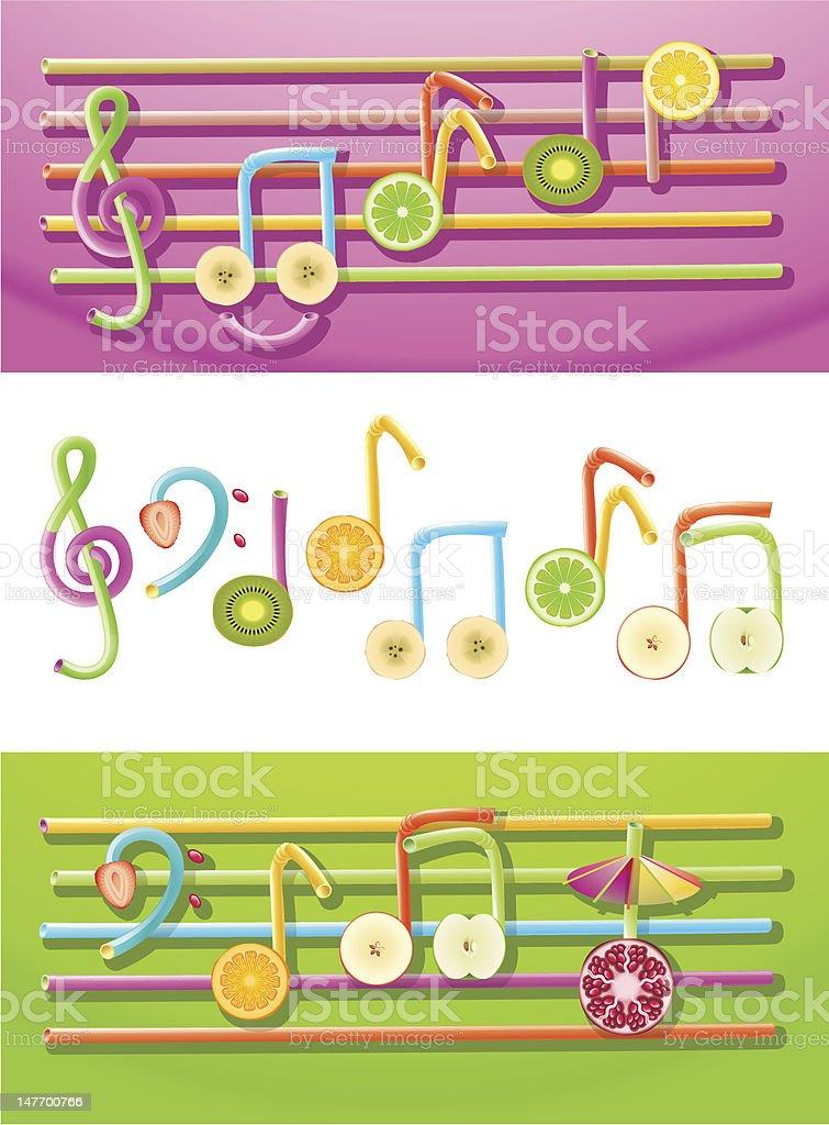 Fruit Music royalty-free stock vector art