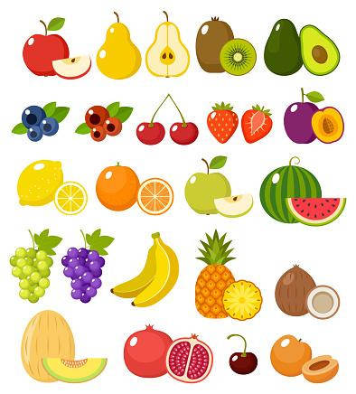Fruit on a white background isolated