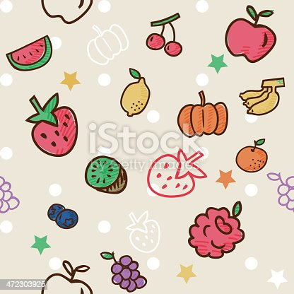 Vector File of Fruit Pattern