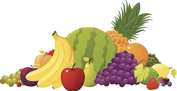 フルーツのパイル - 果物点のイラスト素材/クリップアート素材/マンガ素材/アイコン素材