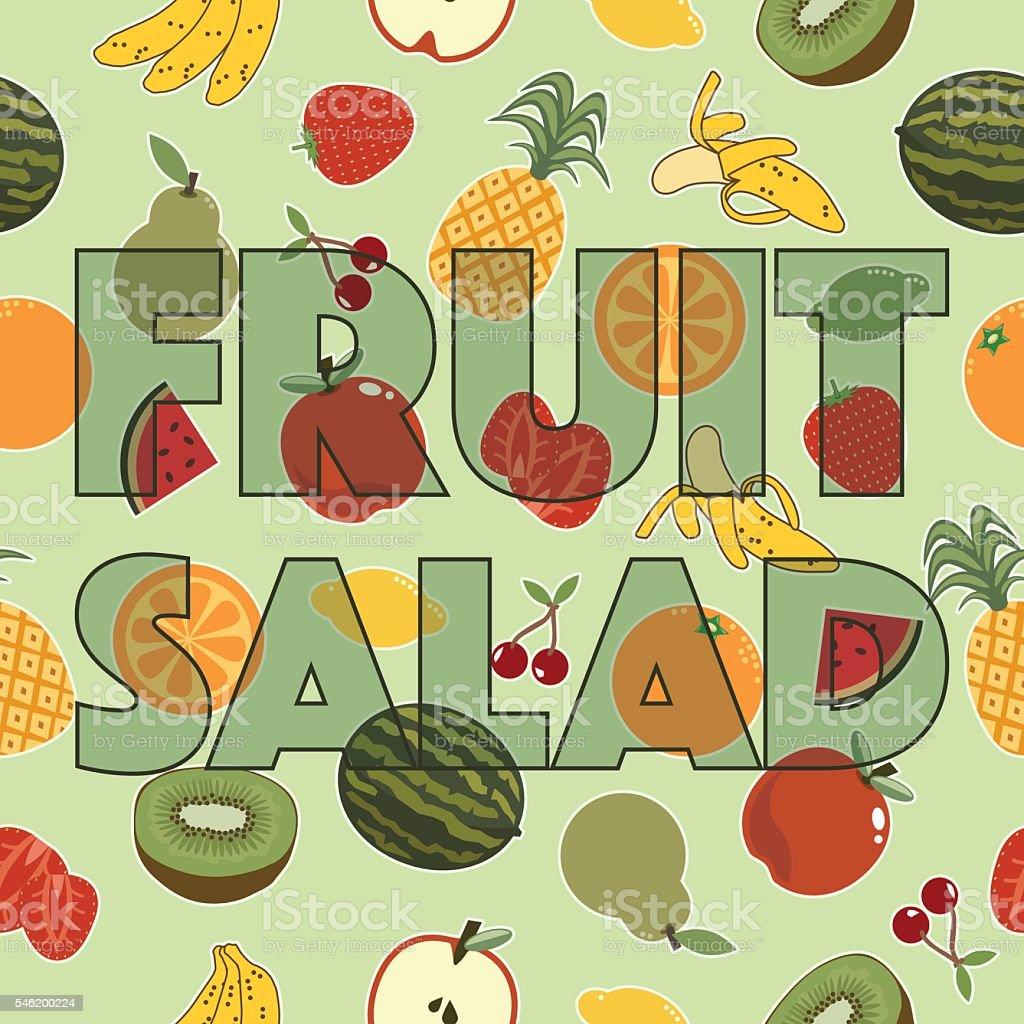 Fruit Salad Decoration Stock Vektor Art Und Mehr Bilder Von Ananas
