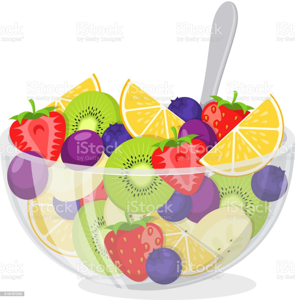royalty free fruit salad clip art vector images illustrations rh istockphoto com fruit salad clipart black and white Cartoon Fruit Salad