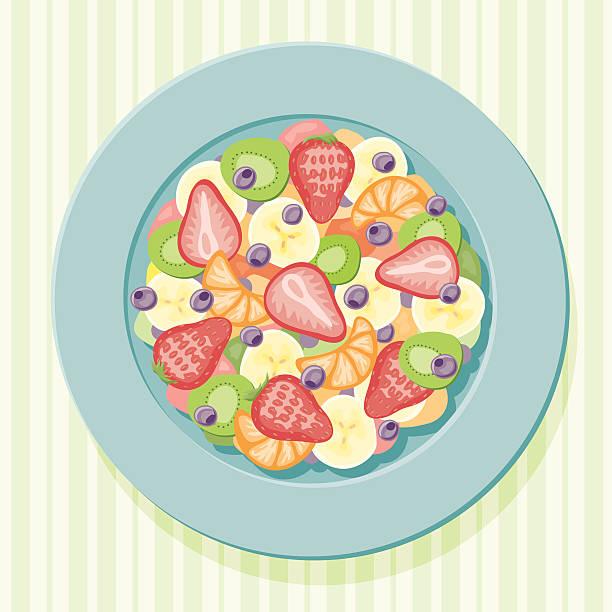 ilustrações, clipart, desenhos animados e ícones de salada de frutas - fruit salad