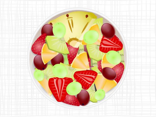 ilustrações, clipart, desenhos animados e ícones de salada de fruta - fruit salad