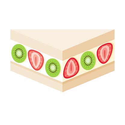 Fruit Sando Icon on Transparent Background
