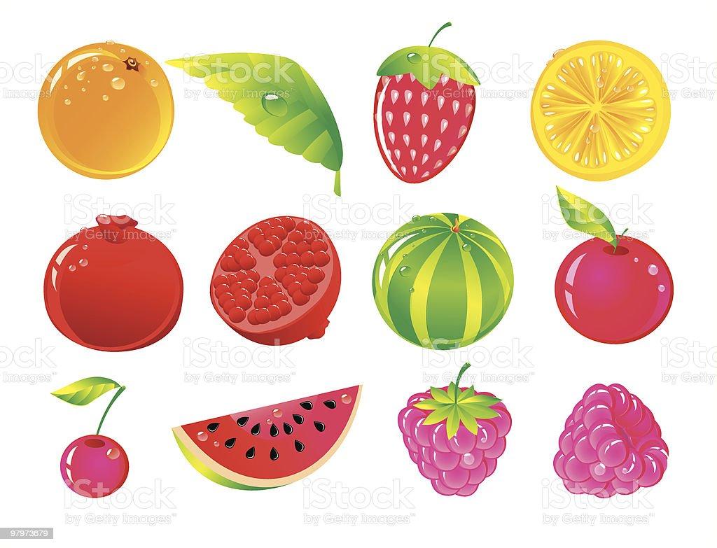 Fruit set royalty-free fruit set stock vector art & more images of apple - fruit