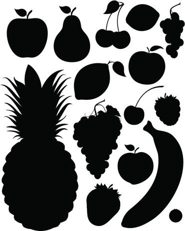 Fruit Silhouettes