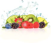 Fruit Splash - Vector Illustration