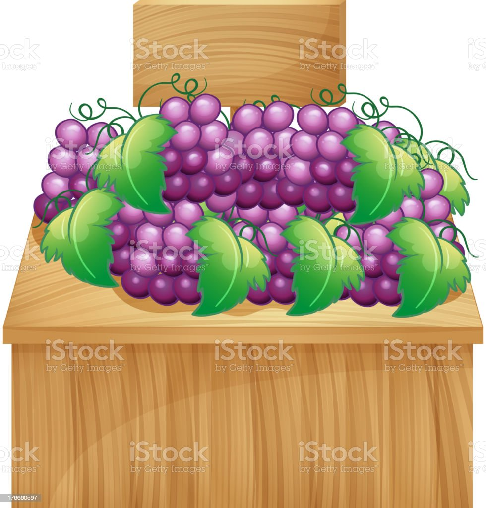 fruit stand for grapes with an empty signage royalty-free fruit stand for grapes with an empty signage stock vector art & more images of illustration