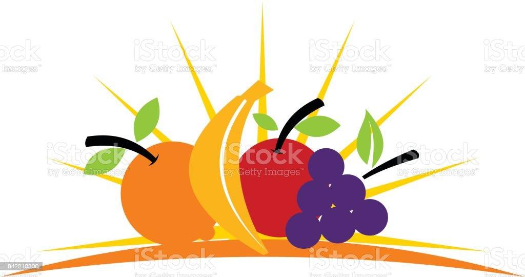 Fruit Store vector art illustration
