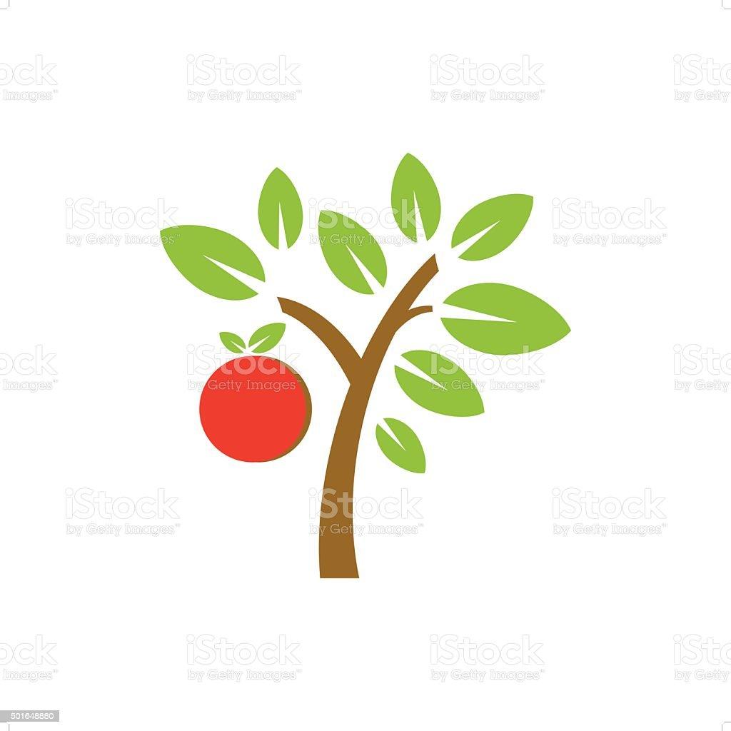 Fruit Tree vector art illustration