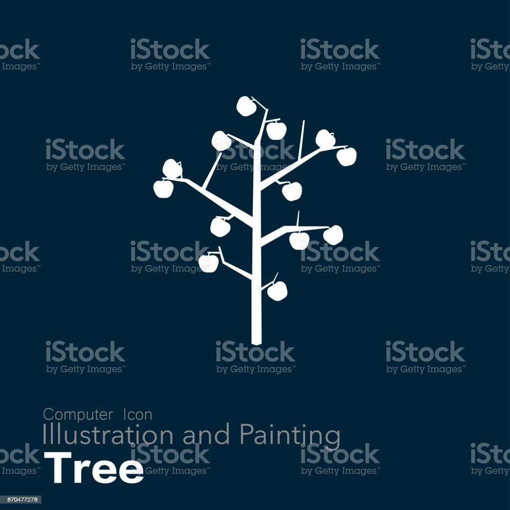 Fruit Tree vector art illustration