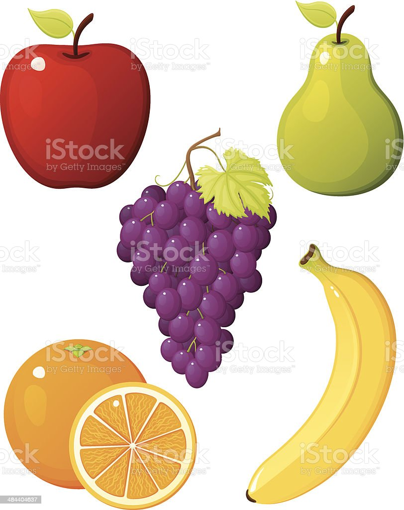 Fruit vector art illustration