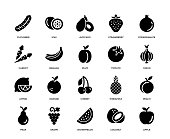 Fruit Vegetable Icon Set