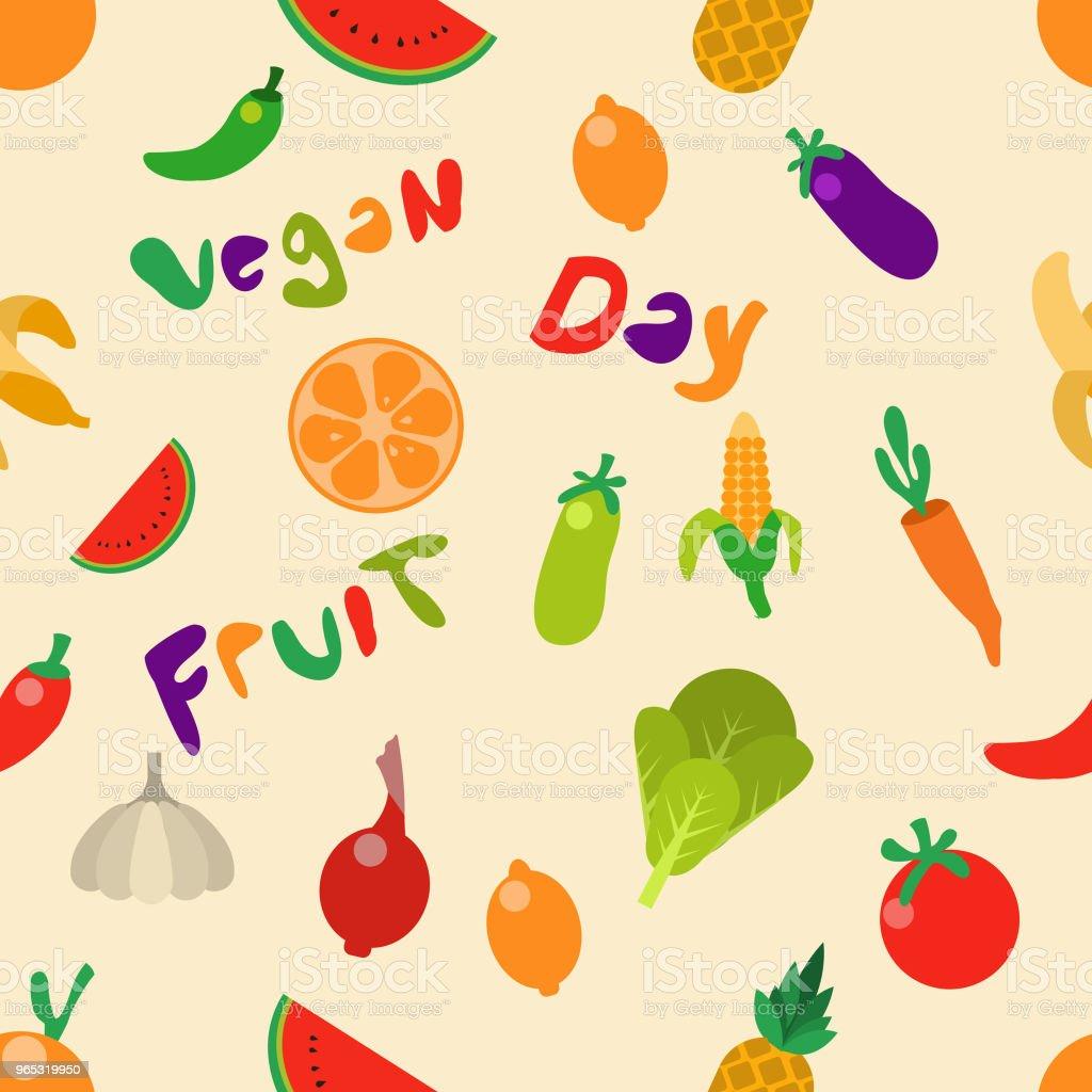 fruit vegetable seamless pattern fruit vegetable seamless pattern - stockowe grafiki wektorowe i więcej obrazów ananas royalty-free