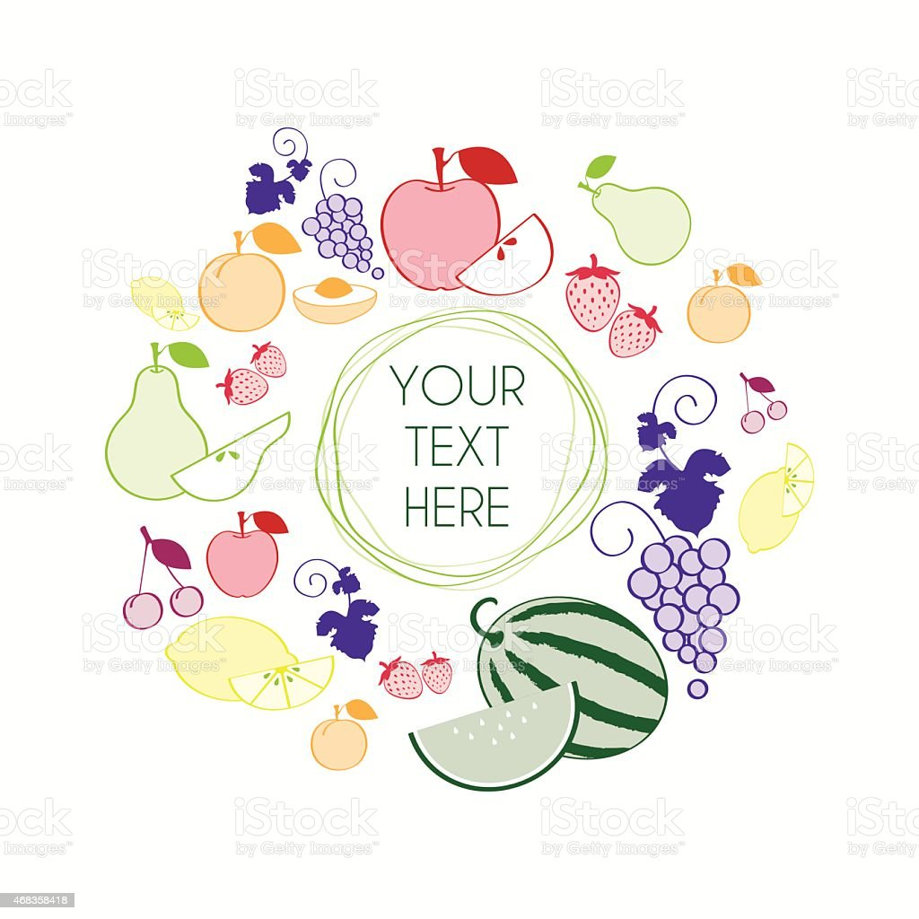 Fruit wreath royalty-free fruit wreath stock vector art & more images of 2015