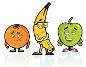 This is a vector illustration of a gang of Fruit giving it some attitude, well in their case some Fruititude.