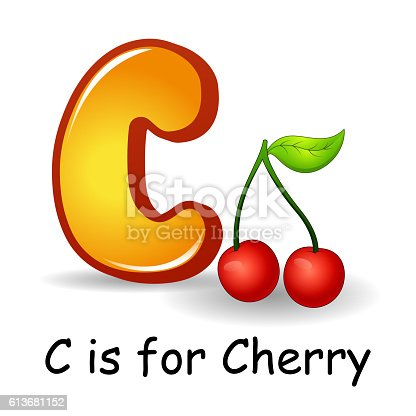 fruits that start with the letter c fruits alphabet c is for cherry fruits stock vector 21911 | fruits alphabet c is for cherry fruits vector id613681152?s=170667a