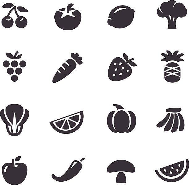 Fruits and Vegetables Icons - Acme Series View All: squash vegetable stock illustrations
