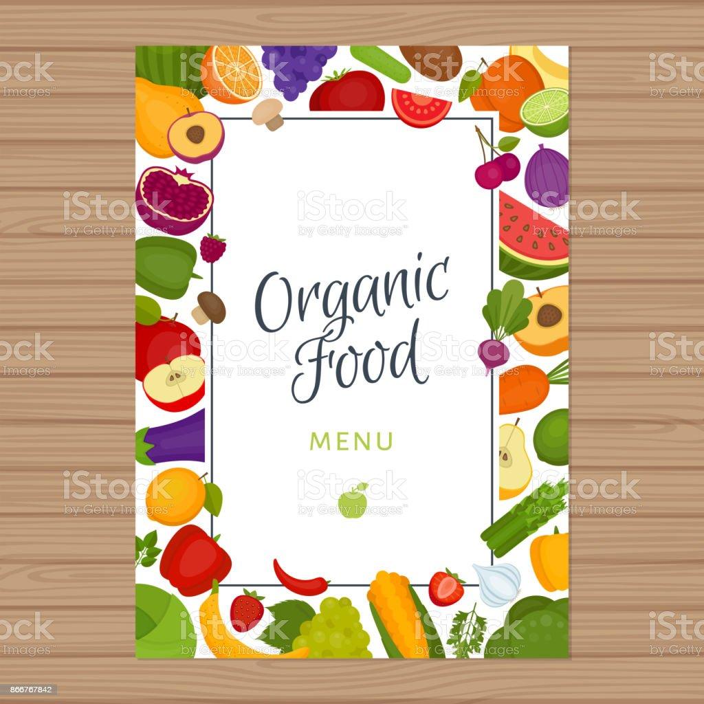 Organic Food Menu Card
