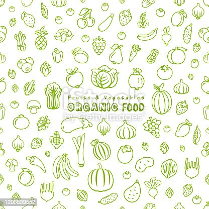 Fruits and Vegetables. Organic Food.