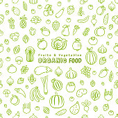 Fruits and vegetables seamless pattern.