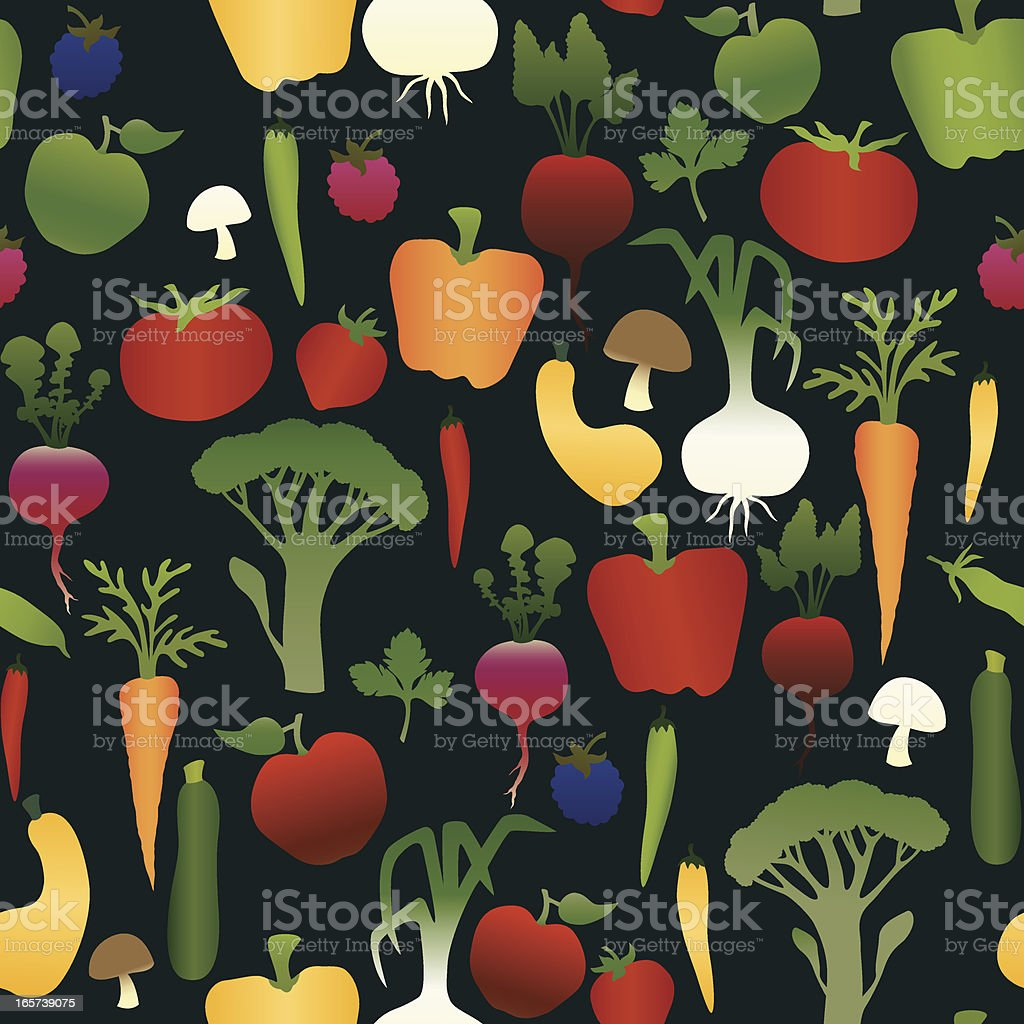 Fruits and Vegetables Seamless Pattern royalty-free stock vector art