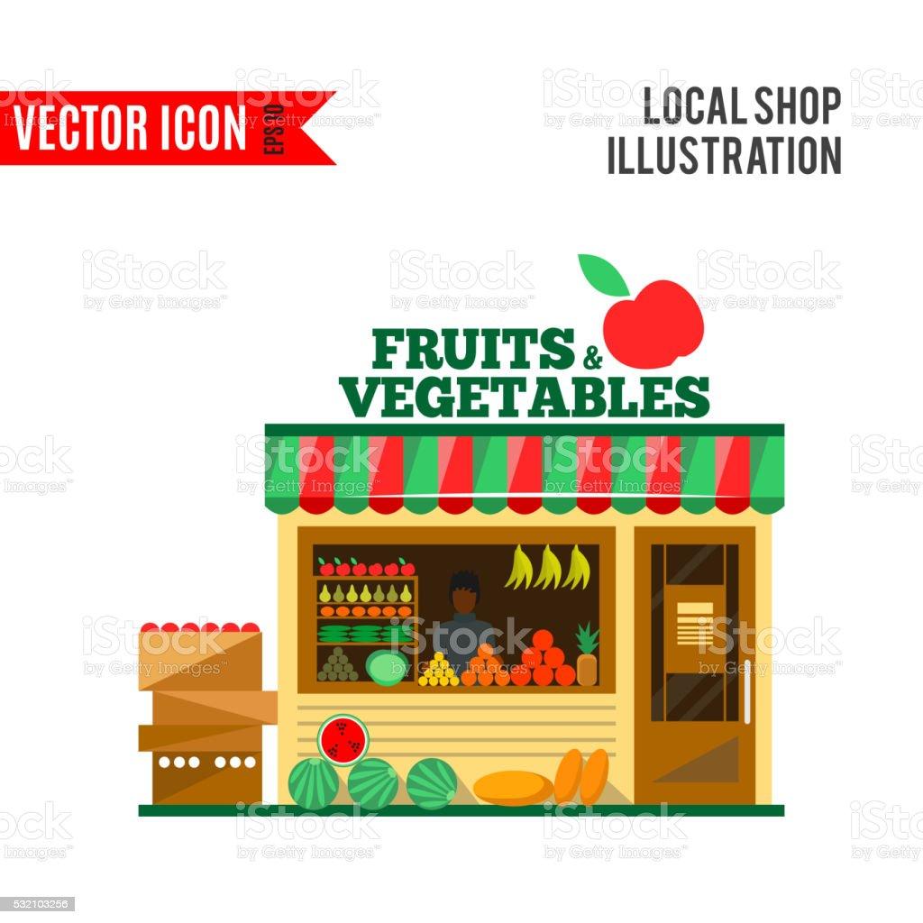 fruits and vegetables vector shop stock vector art 532103256 istock