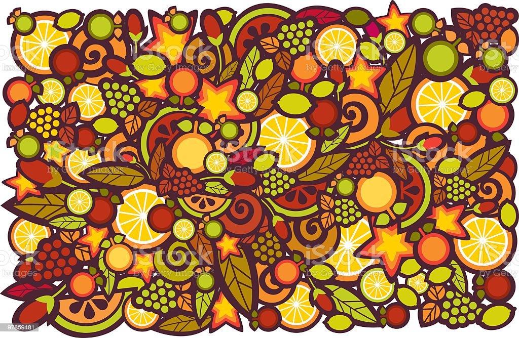 fruits background vector art illustration