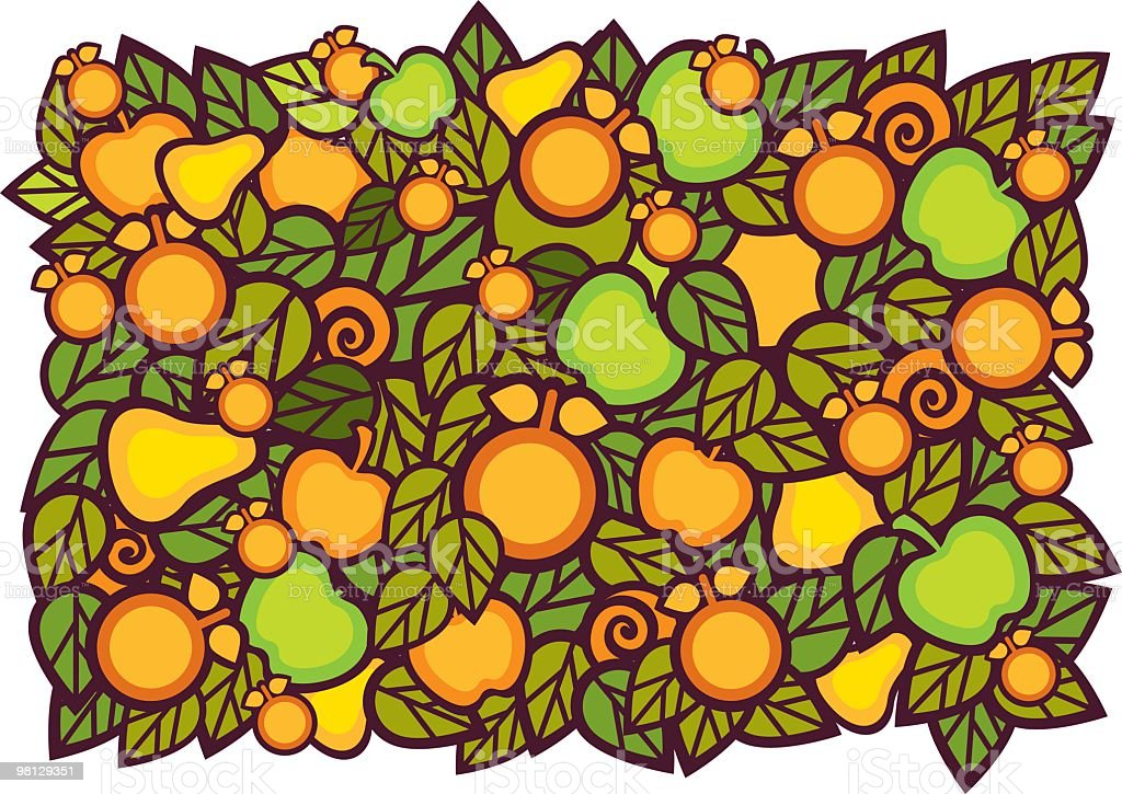 fruits background royalty-free fruits background stock vector art & more images of apple - fruit