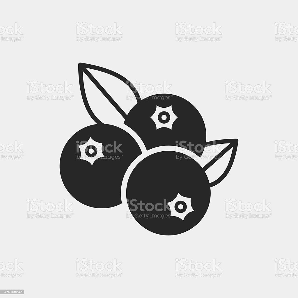 fruits blueberry icon vector art illustration