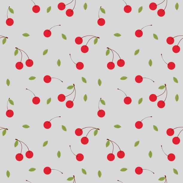 Fruits cherry seamless patterns vector vector art illustration