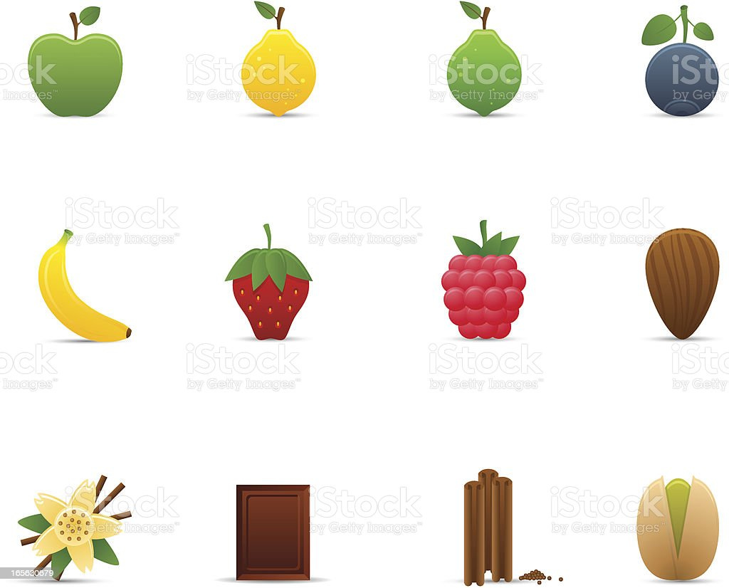 Fruits & Flavors Icon Set | Optima Series vector art illustration
