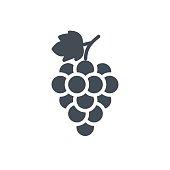 Fruits Food Silhouette Icon Grape