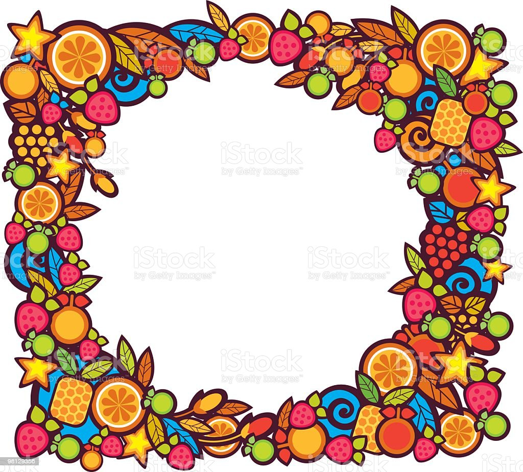 fruits frame royalty-free fruits frame stock vector art & more images of apple - fruit