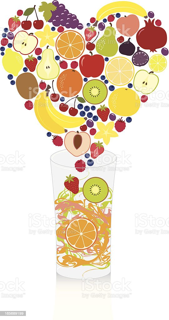 Fruits From the Bottom of My Heart royalty-free stock vector art