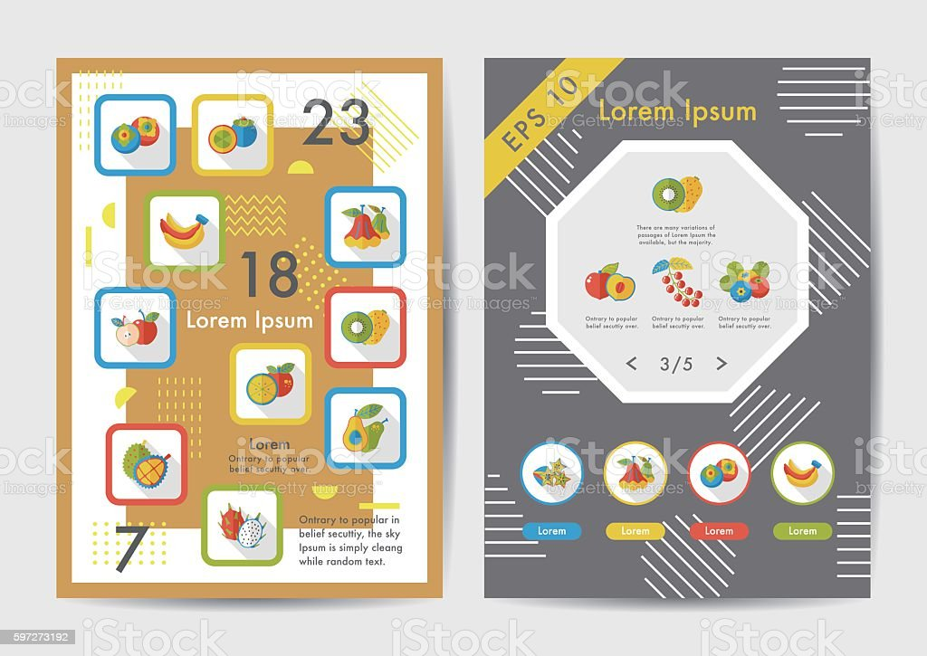Fruits icons set with long shadow,eps10 Lizenzfreies fruits icons set with long shadoweps10 stock vektor art und mehr bilder von amerikanische heidelbeere