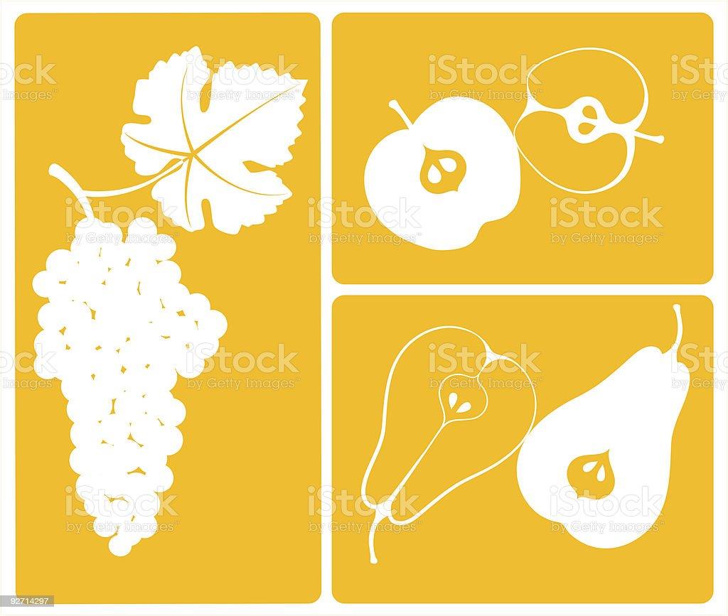 Obst in der gelben Zone. Lizenzfreies obst in der gelben zone stock vektor art und mehr bilder von apfel