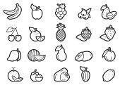 There are various of fruit prominent line icons set. Note : the most favorite fruits around the world.