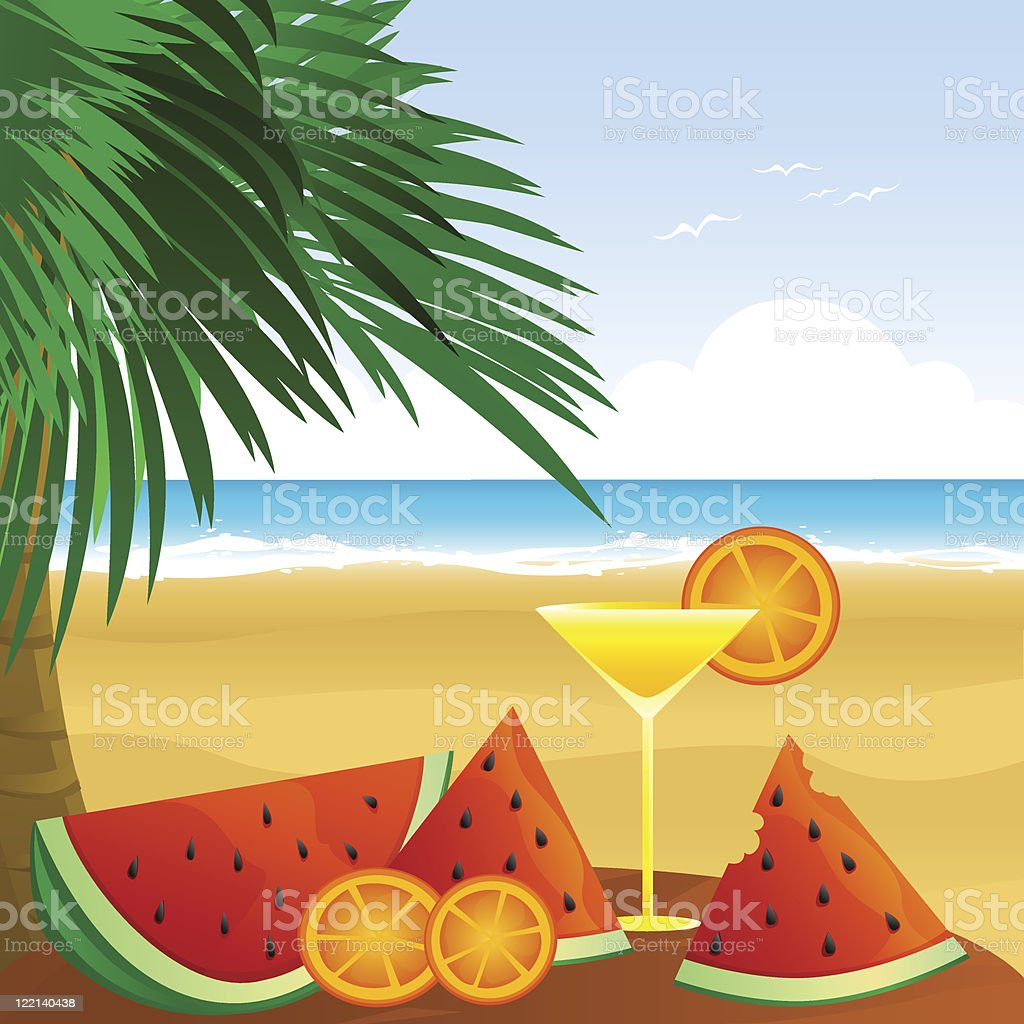 fruits of summer royalty-free stock vector art