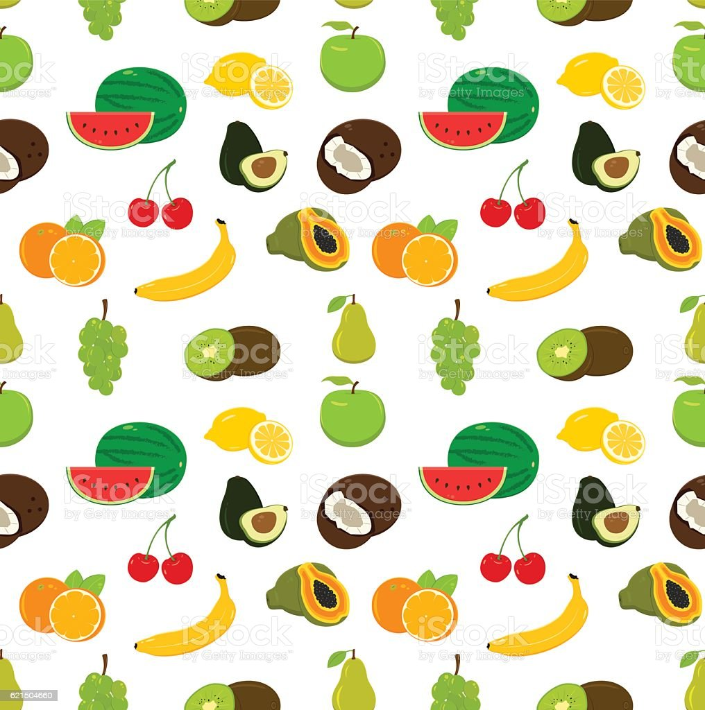 Fruits seamless pattern. Food background. Vector Lizenzfreies fruits seamless pattern food background vector stock vektor art und mehr bilder von altertümlich